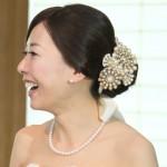 結婚式ヘッドドレス ビーズモチーフ パール