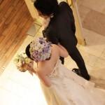 結婚式ヘッドドレス パール&フラワー